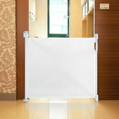 Safetots Advanced Retractable Stair Gate Premium Folding Baby Safety Guard White