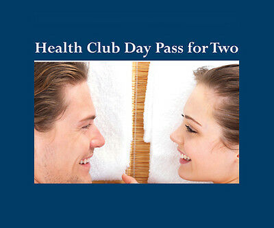Health Club Day Pass for Two - SAVE £5.00 - valid 9+ months from issue