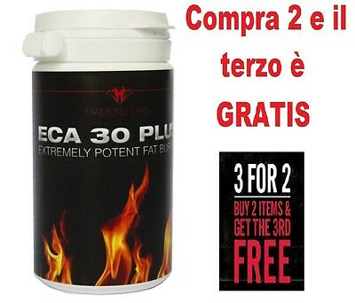 ECA30 PLUS Diamond Labs Termogenico-Bruciagrassi-Fat burner ECA Stack 60 capsule