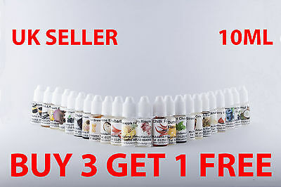 Highly Concentrated Liquid Food Flavouring E Liquid Juice @ Diacetyl Free @ Vape