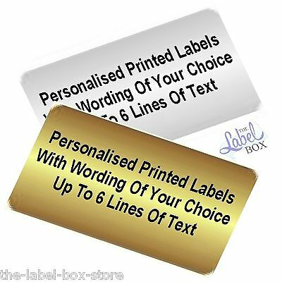 Personalised Gold Or Silver Pre Printed Small Sticky Return Address Labels