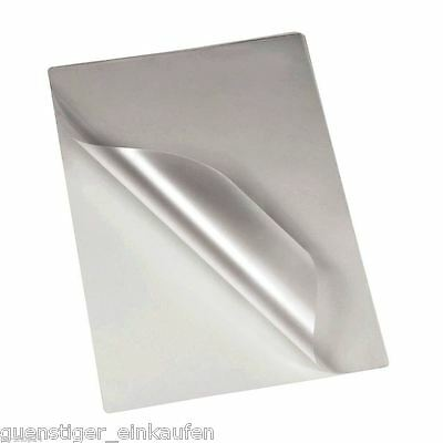 Laminating pouches 2x 75/80 Mic Din A7/A5/A4/A3 Quantity Selectable