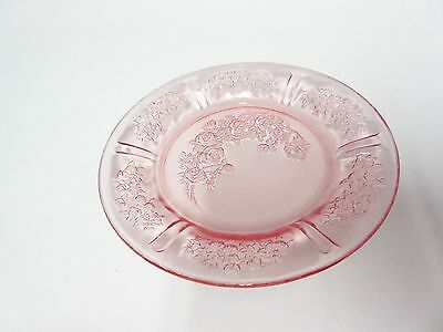"""Vintage Pink Sharon 6"""" Plate / 16 Available / Federal Glass Co"""