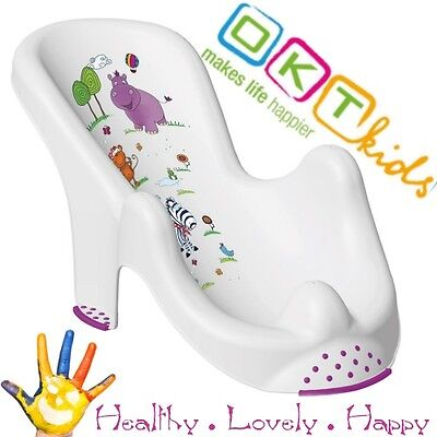 "Anatomic baby bath  chair tub seat  ""Hippo"" Keeper -IML techn. Brand NEW White"