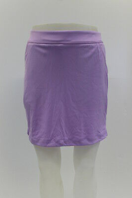 New With Tags Greg Norman Womens Ribbon Trim Knit Golf Skort In Lavender