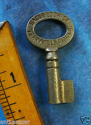 Uber Rare Uncut Blank Eagle Truck Old Lock Skeleton Key - More Exotic Keys Here