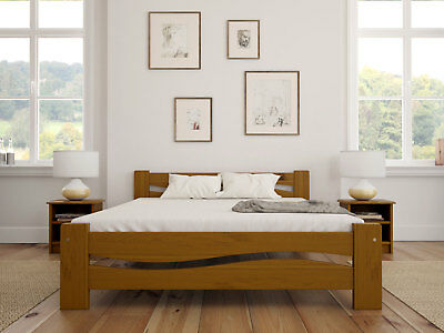 Solid Wooden Bed Frame King Size 5ft Pine Wood Single 3ft Double 4ft6 Super King