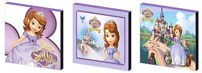Sofia The First 1St - Canvas Art Blocks/ Wall Art Plaques/pictures