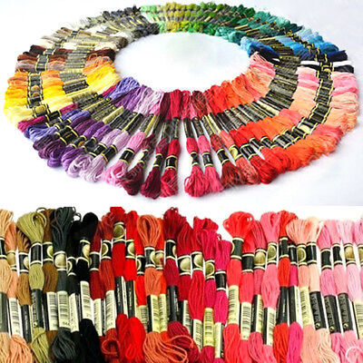 50pcs Mixed Cotton Embroidery Thread Cross Stitch Embroider Floss Sewing Skeins