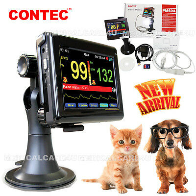 CE Veterinary Portable Patient Monitor Spo2 Pulse Heart Rate Oximeter Touch SW