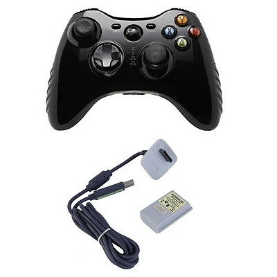 4800mAh Rechargeable Battery Pack for XBOX 360 Wireless Controller + Cable QT