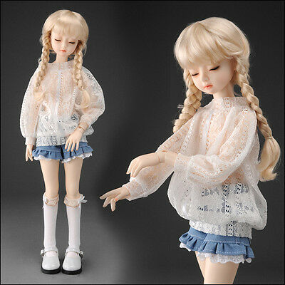 """Dollmore 17"""" 1/4 BJD doll clothes outfits  MSD SIZE - Lapia Blouse (F White)"""