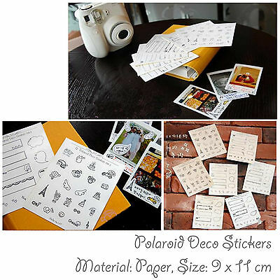 Decoration Sticker For Fujifilm Instax Mini Camera Polaroid 7 8 Photo Scrapbook