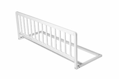Safetots Childrens Wooden Bed Rail Deluxe Toddler Bed Guard White Wood