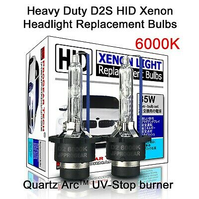6000K Heavy Duty D2S D2R OEM HID Xenon Headlight Replacement Bulbs (Pack of 2)