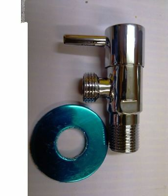 Chrome Lever Douche Valve Tap Metal With Backplate