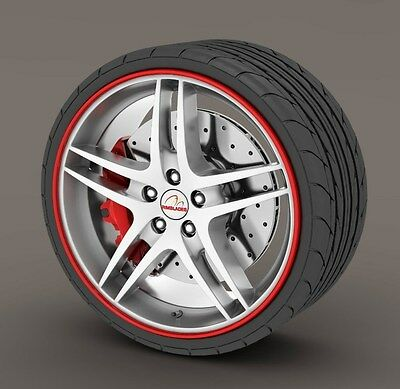 Kabis Rimblades Red Color Alloy Wheel Rim Protector Tyres Tire Guard Rubber