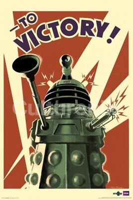 Doctor Who Dalek Art Image, To Victory! 24 x 36 Poster, NEW ROLLED