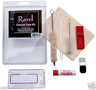 Ravel OP340 Clarinet Care & Cleaning Kit with Swab, Brush, Cork Grease Cloth
