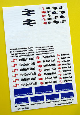 BRITISH RAIL CODE 3 High Detail stickers decals Model Railway HO OO Gauge