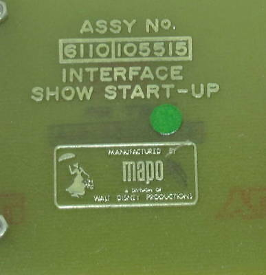 RARE Walt Disney Productions MAPO Show Electronics Circuit Board Imagineering