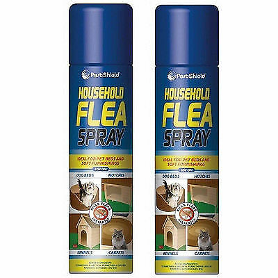 2x Household Flea Aerosol Spray Animal Flea Killer Dog Cat Tick Protection 200ml