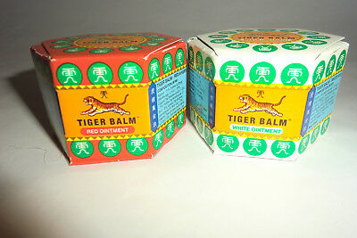 Original Tiger Balm  Pack Of Two ---One Red  And One White 21Ml -Special Price