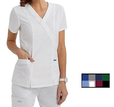 Grey's Anatomy 41101 Mock Wrap Scrub Top Choose Color & size -NWT