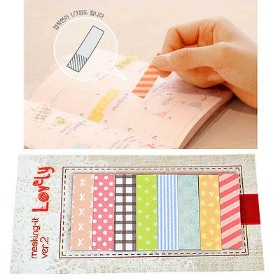 2Pcs 160 Pages Chic Bookmark Sticker Post It Point Memo Notepad Notes Marker