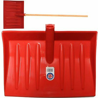 Light Weight Heavy Duty Red Plastic Ice Snow Muck Mucking Out Shovels Inc Handle
