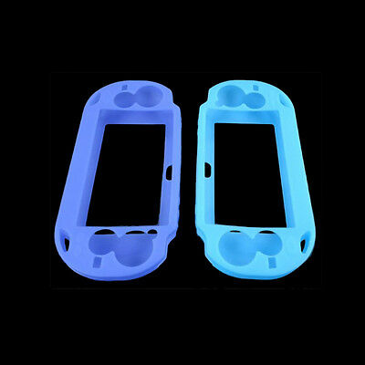 Blue Soft Silicone Skin Protector Cover Case for Sony PS Vita Console PSP ##