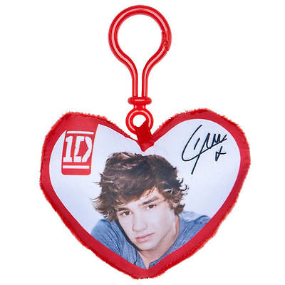 1D One Direction Liam Plush Heart Backpack / Bag Clip
