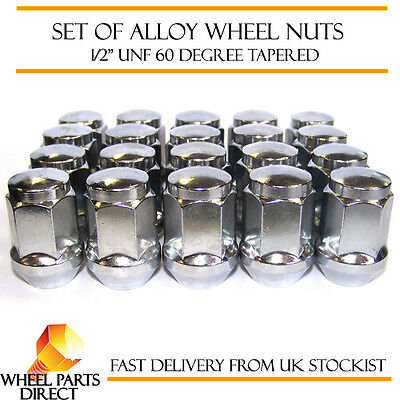 """Alloy Wheel Nuts (20) 1/2"""" UNF Degree Tapered for Jeep Cherokee 1980-2008"""