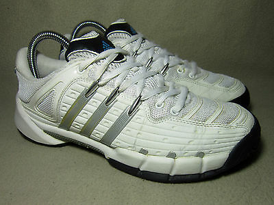 online store 28a5a 12583 VGC ADIDAS TIRAND III Junior White Silver Black Trainers UK Size 5  EU