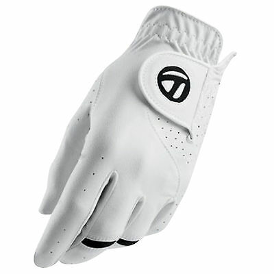Taylormade Mens All Weather Left Hand Golf Glove - New Leather White Sizes 2016