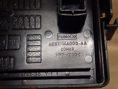2012 Lincoln Mkz 2.5L Hybrid Engine Fusebox Fuse Box Oem Ae5T-14A003-Aa