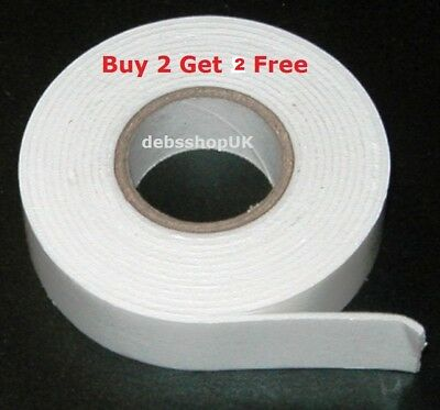 Double Sided Foam White Heavy Duty Tape Strong Adhesive  Roll Number Plate Pad 2