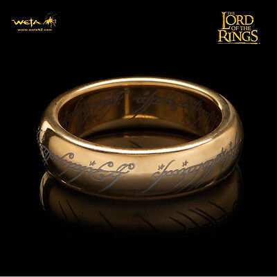WETA The One Ring Lord Of The Rings Gollum Frodo W/ Runes Replica SZ 7 NEW