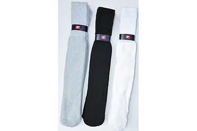 """26 """" extra long  12pair tube socks up to size 17 Black, White, Gray big and tall"""