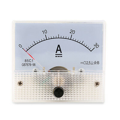DC 30A Analog Ammeter Panel AMP Current Meter 0-30A DC Doesn't Need Shunt SW