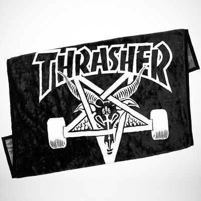 "New THRASHER SKATEBOARD MAGAZINE ""Skate Goat"" Blanket (Black / White) Skategoat"