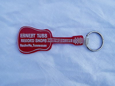 Ernest Tubb Record Shops Guitar Shape Keychain  Nashville Tennessee