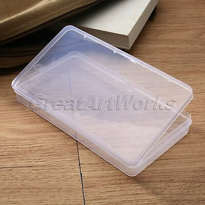 Plastic Clear Storage Box Craft Jewelry Bead Collection Container Organizer Case