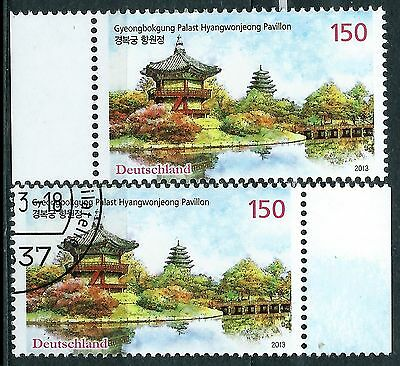 Germany stamps FDR 2013.9 Gyeongbokgung Palast Hyangwonjeong Pavillion