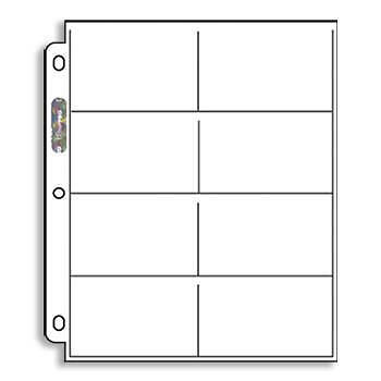 50 Ultra Pro 8 Pocket Pages Coupon Organizer  Sleeves