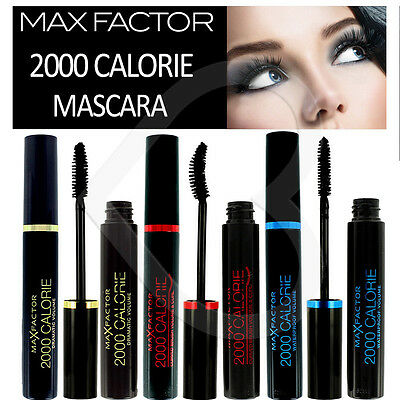 148152108e0 Max Factor 2000 Calorie Mascara Black New Packaging Dramatic Volume Curl or  Wate