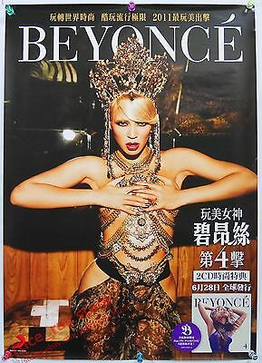 BEYONCE 4 2011 Taiwan Promo Poster New Run The World (Girls)-Lay Up Under Me NEW