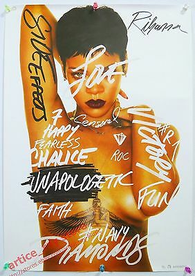 RIHANNA Unapologetic 2012 Taiwan Promo Poster NEW