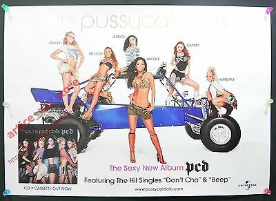 The Pussycat Dolls don't cha & Beep PCD 2005 Taiwan Promo Poster NEW