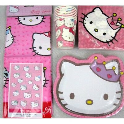 Happy Birthday Party Pack - Hello Kitty - Tableware For Approx 8 People